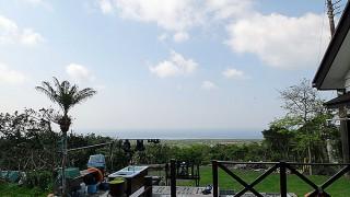 青空続き穏やかな陽気も続いていた4/26の八丈島