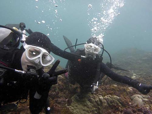 八重根で体験ダイビング