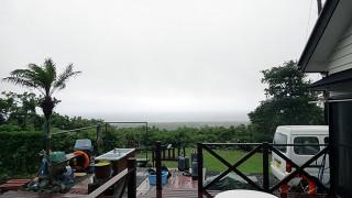 湿度も高く霧っぽく雨風強くなっていた6/9の八丈島