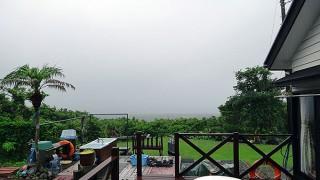 降る雨強く肌寒い天気となっていた6/16の八丈島