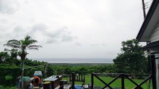 雨風ゆっくり強まってきていた6/18の八丈島