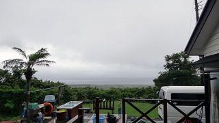 一旦収まる風でもあるが雨は降り止まずだった6/19の八丈島