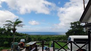 風も弱まりお日様でてて爽やかな陽気となっていた6/20の八丈島