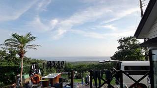 雲が晴れれば夏の暑さも感じられた7/7の八丈島