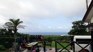早めのうちは雲は多いが次第に青空広がっていた7/13の八丈島