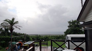 朝夕雨は降るものの日中は青空もあった7/18の八丈島