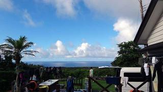 朝晩涼しく日中暑い夏らしい陽気が続いていた7/21の八丈島