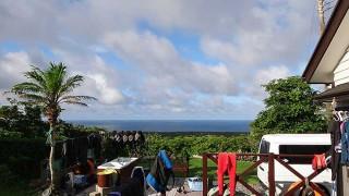 早めのうちは雲も多めで少し涼しい風が吹いていた7/25の八丈島