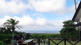 次第に雲が広がるが暑さは続いていた7/27の八丈島