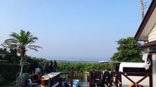 暑さも続き青空広がっていた7/30の八丈島