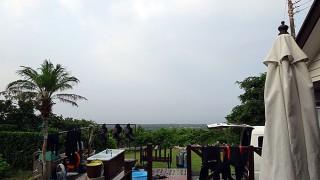 蒸しっと暑く早めのうちは雲も多めだった7/31の八丈島