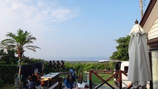 暑さ変わらず夏らしい青空も広がっていた8/2の八丈島