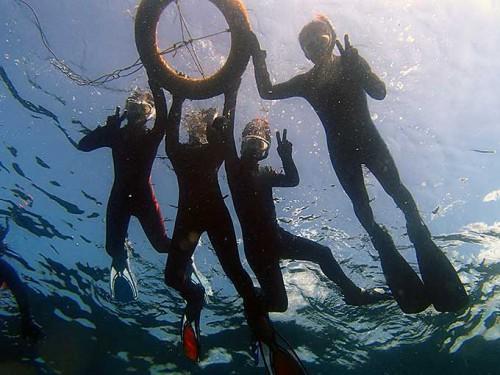 夏の海を楽しみながら泳いでみたり