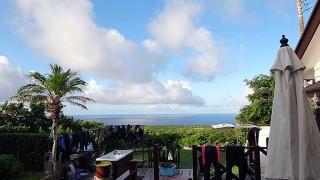暑い陽気も続き夏の青空が広がっていた8/6の八丈島