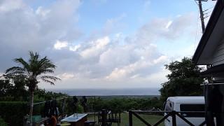 雲が広がり涼しくなっていた8/9の八丈島