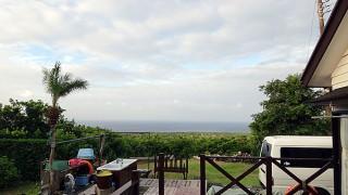次第に雲も広がって涼しい風が強くもあった8/25の八丈島