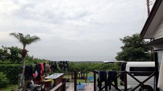 雲は多めで次第に蒸し暑さもでてきていた8/30の八丈島