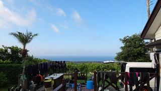 陽ざしも強く暑さは夏っぽくもなっていた8/31の八丈島