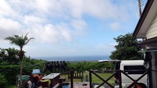 南からの風も強まり少し蒸し暑い感じもあった9/2の八丈島