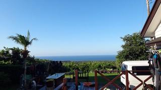 雲一つない青空広がり爽やかな陽気となっていた9/12の八丈島