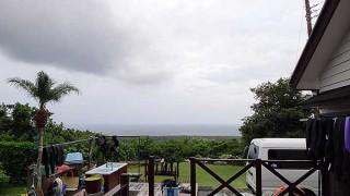北東の風が強く涼しくなっていた9/15の八丈島