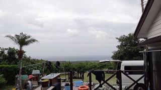 風も強くて天気は次第に下り坂だった9/16の八丈島
