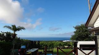 青空広がり爽やかで穏やかな秋の陽気となっていた9/19の八丈島