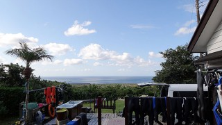 晴れは変わらず日中は風も強かった9/22の八丈島
