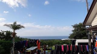 すっかり涼しくなるものの爽やかな青空もみられていた9/23の八丈島
