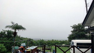 降る雨止まずグズついた空模様となっていた9/27の八丈島