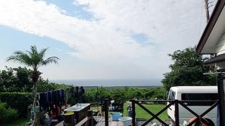 爽やかな青空も広がるが風は少し涼しい感じだった10/12の八丈島