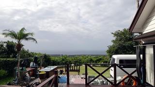 空には雲が多くもなって風も強まっていた10/21の八丈島