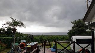 早めに雨は上がって青空も広がってきていた11/6の八丈島