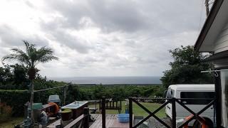 雲は多いが晴れ間もあった11/8の八丈島