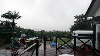 激しい雨も次第に収まってきていた11/10の八丈島