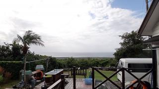 風も強まり涼しくなって雨も強まってもいた11/11の八丈島