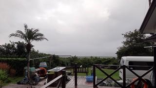 雲も広がり涼しくもなっていた11/19の八丈島