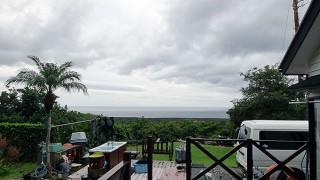 広がる雲はあるものの時折晴れ間もあった11/24の八丈島
