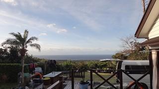 カラッと爽やかな青空が広がっていた12/30の八丈島