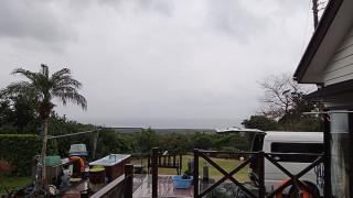 次第に雨脚も強くなり寒くもなってきていた1/12の八丈島