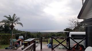 すっかり雲は広がるものの雨は降ってこずだった2/6の八丈島