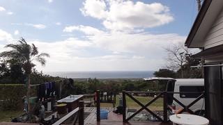 明るい曇りで季節外れの暖かさとなっていた2/13の八丈島