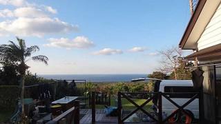 青空広がり暖かくもなってきていた3/3の八丈島