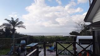 風も弱まり青空広がりとっても暖かな一日となっていた3/17の八丈島