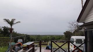曇り空だが時折晴れ間もあって暖かくもなっていた4/9の八丈島