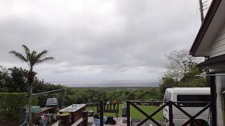 雨は次第に上がってきてて風も弱まってきていた4/26の八丈島