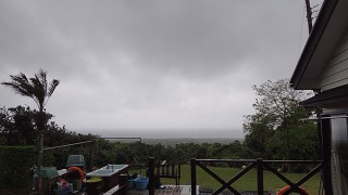 土砂降り一転青空も広がってきていた5/4の八丈島