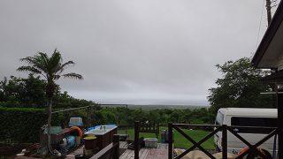 この時期らしい曇り陽気で一時的に雨も強まっていた6/21の八丈島