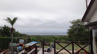 差し込む薄日は次第になくなってきていた6/22の八丈島