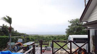 雲は広がり時折雨も降ってもきていた6/29の八丈島